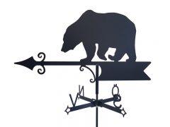 Vindflöjel exklusiv björn på vit bakgrund.
